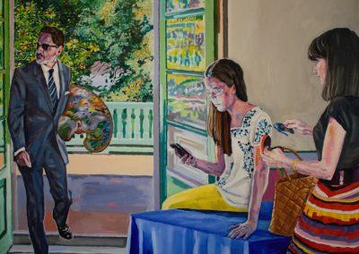 Reunión de mediodía. Óleo sobre lienzo. 150x150cm. 2015